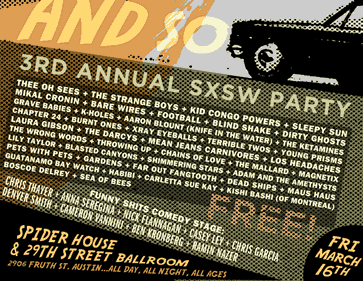 Panache SXSW Party — March 16th at Spider House